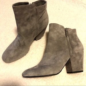 NWOT 1 State Nordstrom Grey Suede Ankle Booties